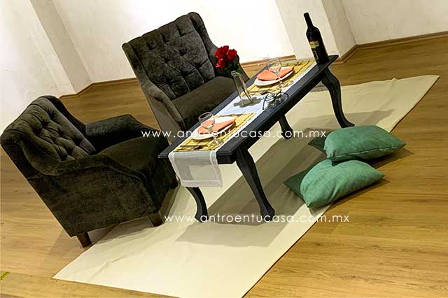 sillón vintage para fiestas sana distancia